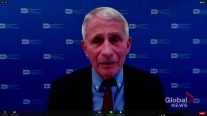 U.S. trials of AstraZeneca COVID-19 vaccine prove its efficacy and safety, Dr. Fauci says (01:39)