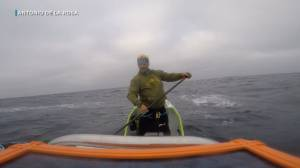 Spanish man paddles from California to Hawaii