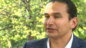 NDP leader Wab Kinew talks about the party's 2019 campaign commitments