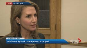Caroline Mulroney speaks about Hamilton LRT cancellation