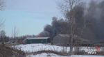 Crews battle barn fire in Cavan Monaghan Township near Peterborough Airport