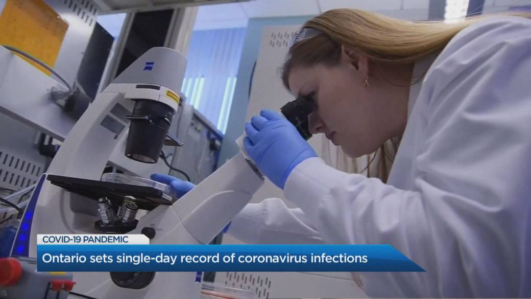 Click to play video 'Monday sets single-day record of coronavirus infections in Ontario'