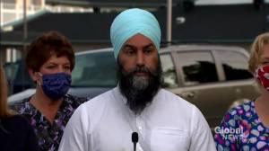 Canada election: Singh believes party members made right choice by resigning following controversial comments on Israel, Auschwitz (01:20)