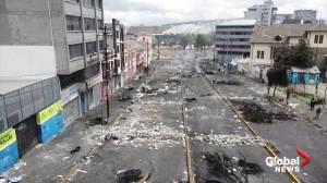 Ecuador's capital under curfew after violent protests