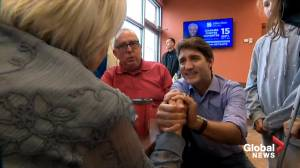 Federal Election 2019: Trudeau greets voters in St. Felix, QC