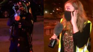 Reporter shot with pepper bullets on live TV during Louisville protest over death of Breonna Taylor