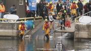 Play video: Eighth annual Polar Plunge brings out the biggest number of participants yet
