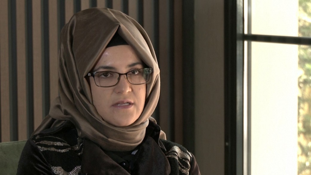 Click to play video: 'Slain journalist Khashoggi's fiancée calls for sanctions against Saudi crown prince'