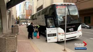 Red Arrow, Ebus resume limited bus service across Alberta