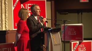 Bay of Quinte Liberal incumbent Neil Ellis wins a second term in Ottawa (01:18)