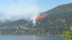 """""""It's very scary"""" Wildfire breaks out near Peachland putting residents on edge (02:24)"""