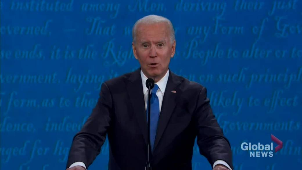 Click to watch video 'Presidential Debate: Biden accuses Trump of not being tough enough on Russia over election interference'