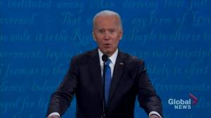 Presidential debate: Biden accuses Trump of not being harsh enough on Russia regarding election interference (01:45)