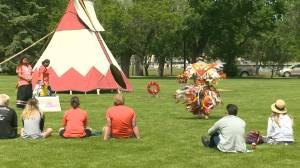 Sask. marks National Indigenous Peoples Day with performances, residential school site memorial (01:43)