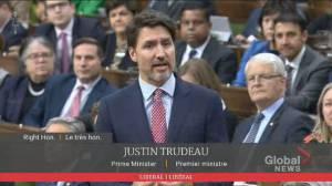 Trudeau calls rail blockades 'unacceptable', won't say when government will put end to blockades