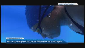 Swim caps designed for Black athletes banned at Olympics (04:19)