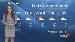 B.C. evening weather forecast: January 10 (02:29)