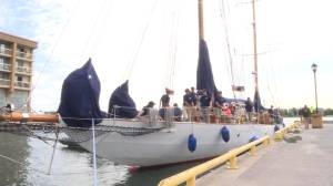 Historic Canadian Navy ship sails into the Limestone City