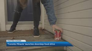 'Toronto Miracle' launches doorstep food drive (03:13)