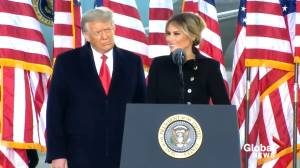My greatest honour,' says Melania Trump in final remarks as First Lady (00:42)