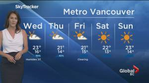 B.C. evening weather forecast:  July 21