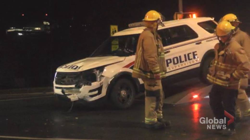 Peterborough police officer injured in collision at intersection