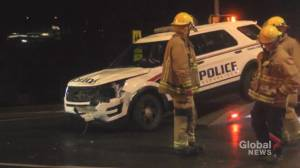 Peterborough police officer injured in multi-vehicle collision