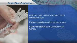 COVID-19 testing causes confusion for air travelers (04:43)