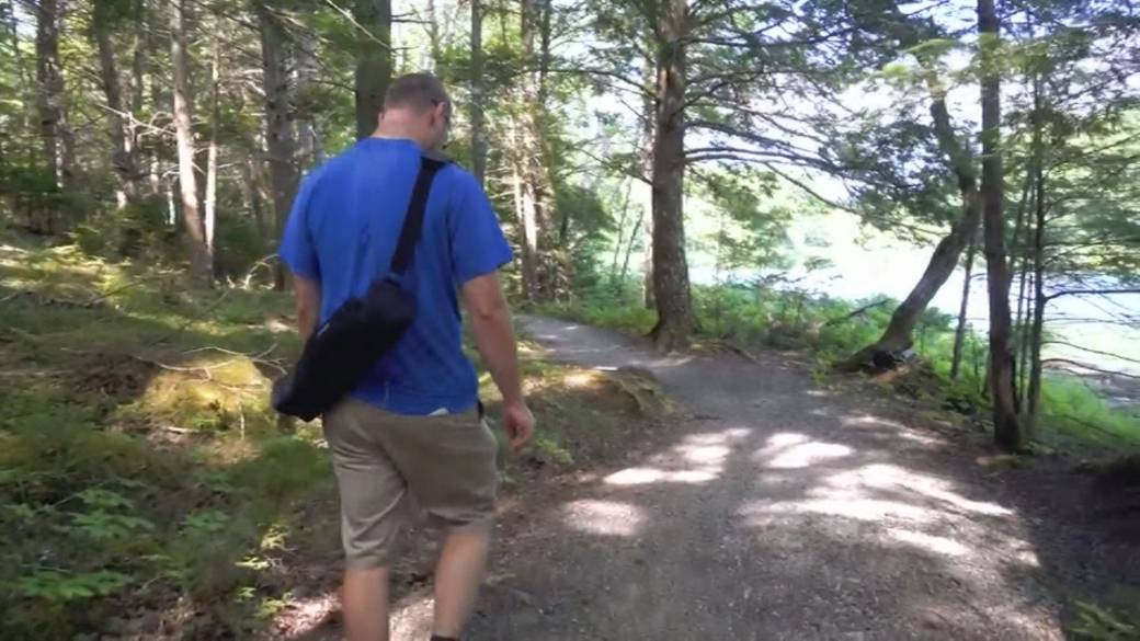 Click to play video 'Guided hikes fight pandemic stress'