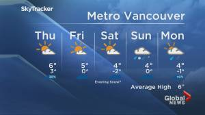 B.C. evening weather forecast: Jan. 20 (01:56)