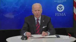 Hurricane Ida: Biden instructs FAA to authorize use of surveillance drones to assess damage to energy infrastructure (00:38)