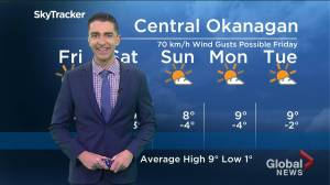Kelowna Weather Forecast: October 24