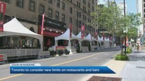 Toronto to consider new COVID-19 limits on restaurants, bars