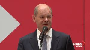 Germany's Scholz says he expects to form government by Christmas (01:03)