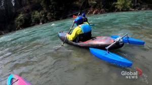 Rocky Mountain Adaptive helps Calgary woman become white-water kayaker (02:27)