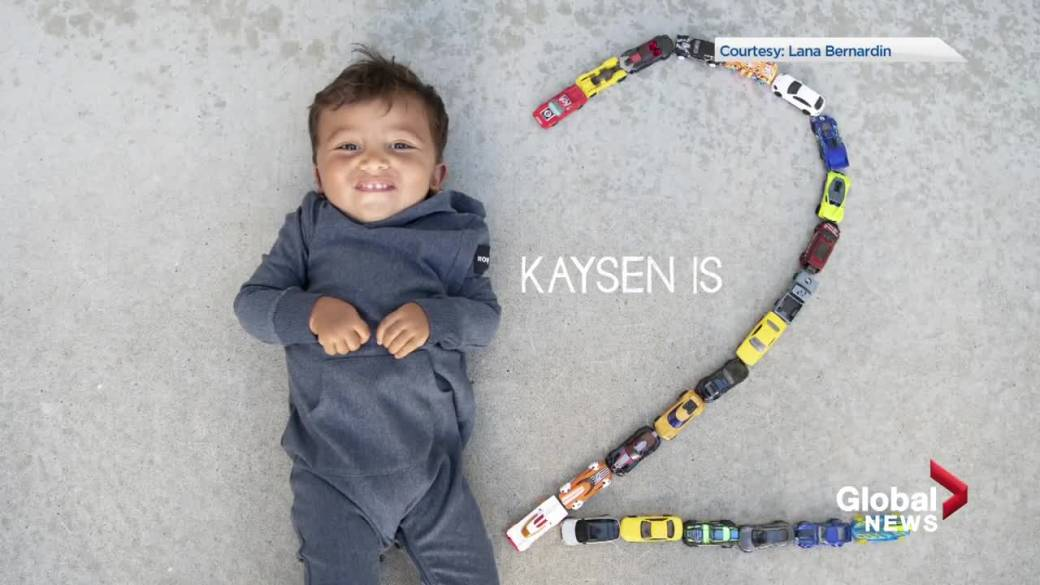 Click to play video 'Family of Edmonton toddler Kaysen Martin continues to push for life-saving treatment before it's too late'