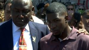 George Floyd protests: George's son speaks at makeshift memorial to his father in Minneapolis