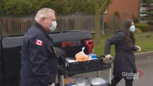 Coronavirus outbreak: Premier Ford participates in delivering food to seniors