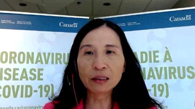 Click to play video: Canada's COVID-19 reproduction number drops below 1 for first time 'in many weeks,' modelling shows