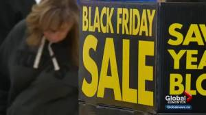 If Black Friday is becoming more popular in Canada, why might lineups at stores get shorter?