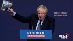 British PM Boris Johnson launches election manifesto