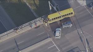 School bus involved in collision in west Edmonton