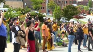 Hundreds turned up at Grand Parade for healing walk