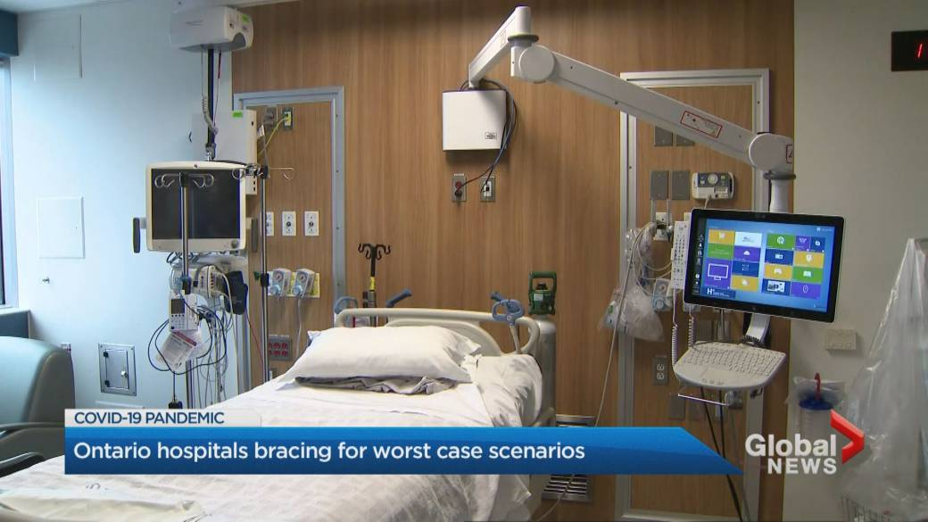 Click to play video 'Coronavirus: Ontario hospitals bracing for worst-case scenarios'