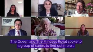 U.K.'s Queen Elizabeth joins inaugural public video call to mark carers week