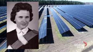 New solar panel station named after Hydro-Québec's first female engineer (02:10)