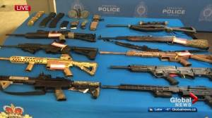 Edmonton police to charge 2 men in firearms trafficking bust (01:32)