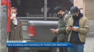 COVID-19: New modelling, possible restrictions for Ontario to be announced Friday (01:58)