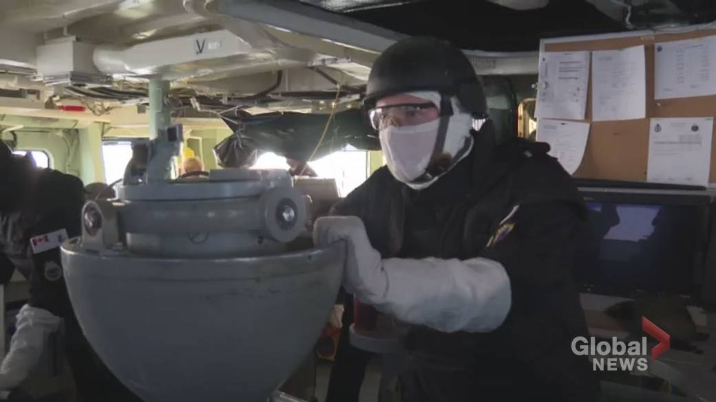 Click to play video: 'Sights and sounds of Cutlass Fury aboard HMCS Toronto'