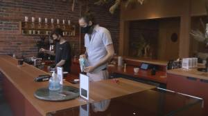 Vancouver coffee shop creates code order for safety (00:58)